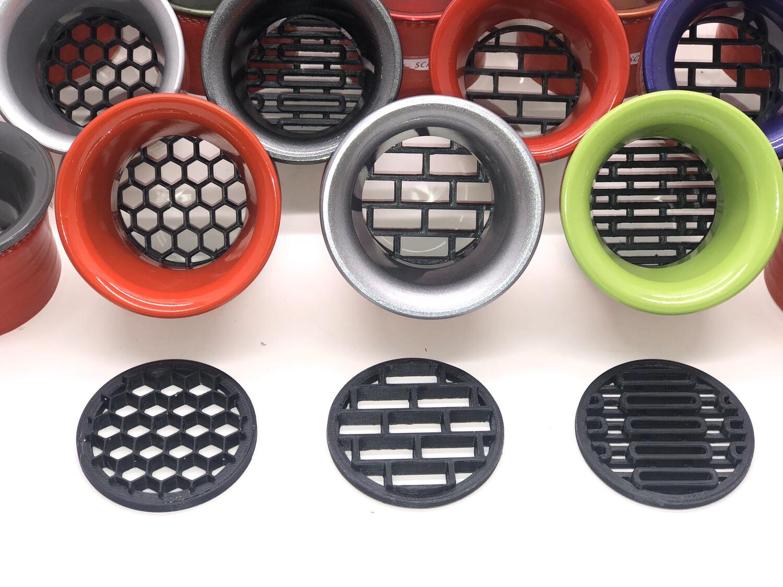 Screens for Popular Aluminum Headlight Ring Inserts  (50mm Inner Diameter)