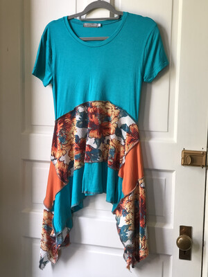 Short Sleeve Floral Layer Top