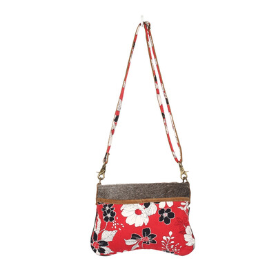 Myra Bag Floral Amorous Small & Crossbody Bag Leather Canvas Hairon