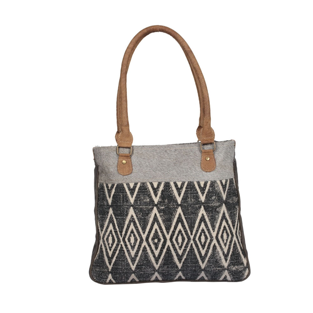 Myra Bag Traffic Cone Small & Crossbody Bag Leather Canvas