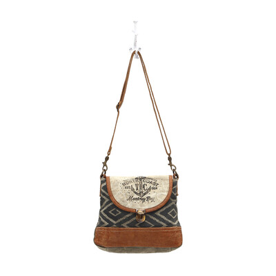 Myra Bag North Coast Anchor Crossbody Bag Leather, Canvas