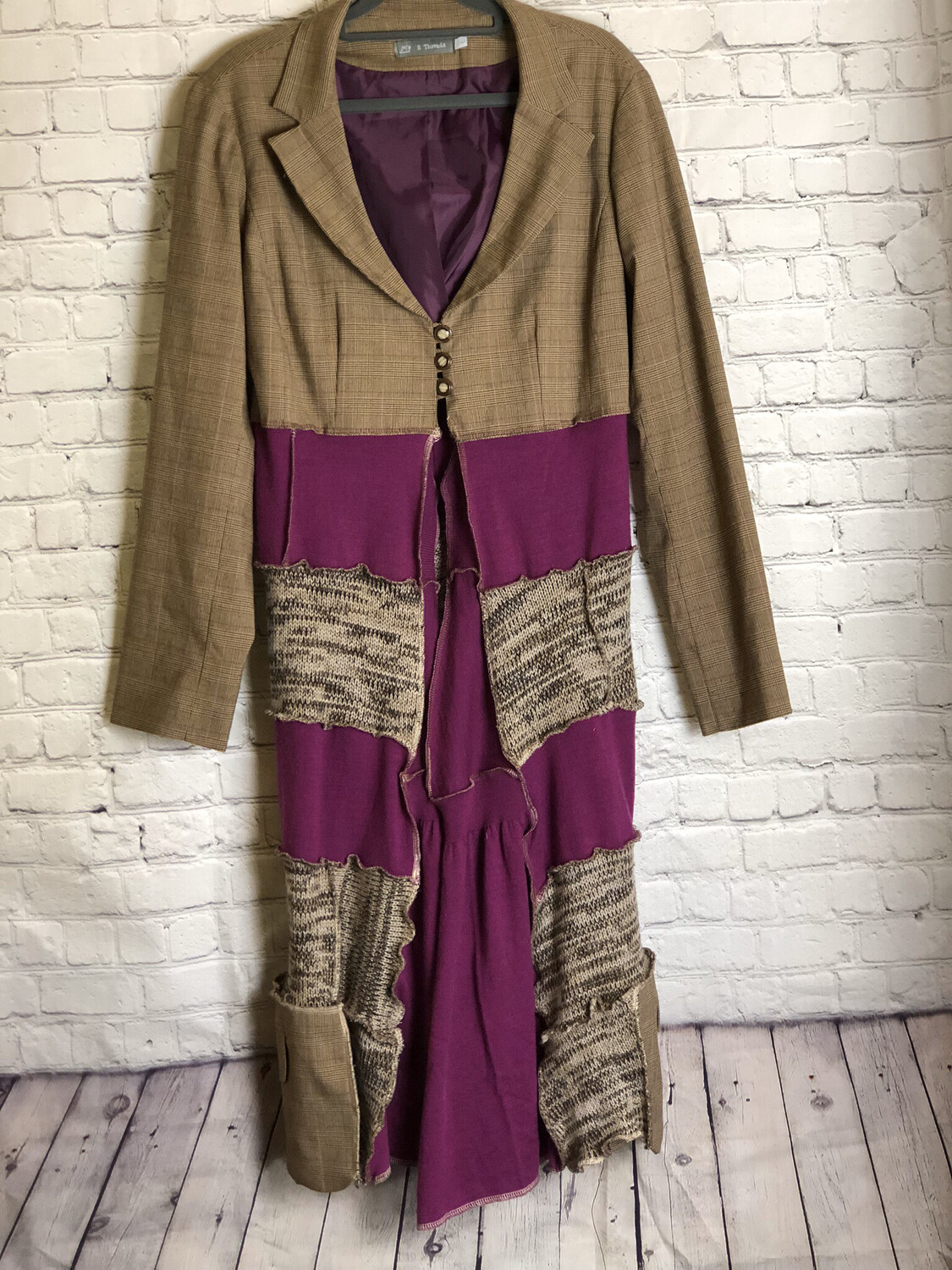 Jayer AKA Jacket With Layers In Browns Purples