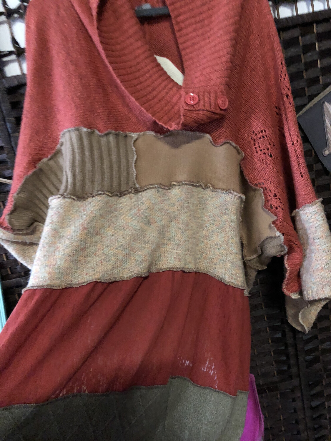 Slouch Poncho Sweater One Size