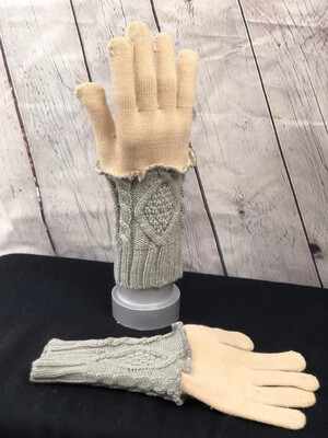 Delphine Upcycled Sweater Gloves
