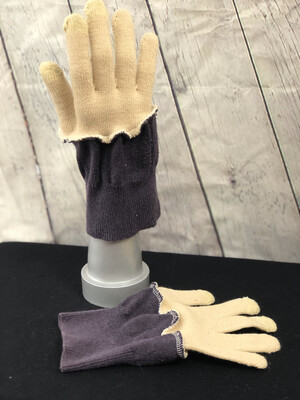 Pansy Upcycled Sweater Gloves