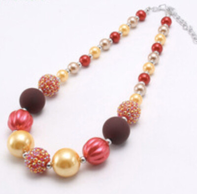 Bubblegum Necklace Red & Yellow