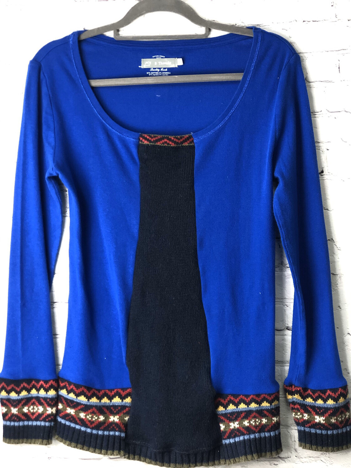Brilliant Blue Upcycled Sweater