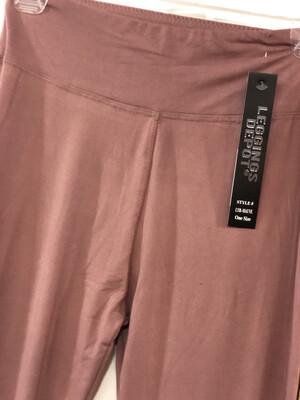 Leggings Mauve Solid Color One Size