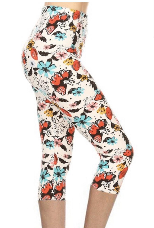 Capri Leggings Multi Color Plus Size