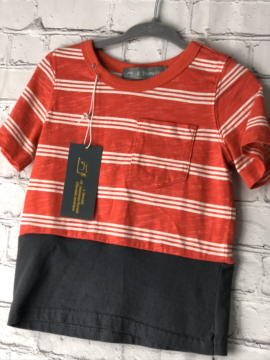 Child Red Striped Top