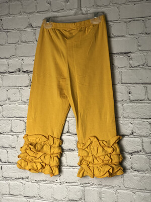 Childs Ruffle Pant - Dark Yellow