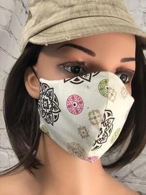 Celtic Print Handmade Face Mask