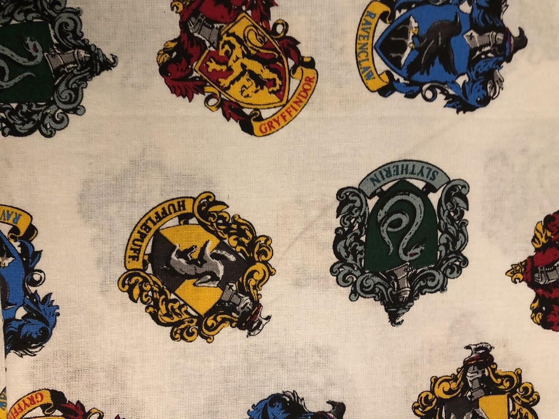 Harry Potter House Symbols Print Handmade Face Mask