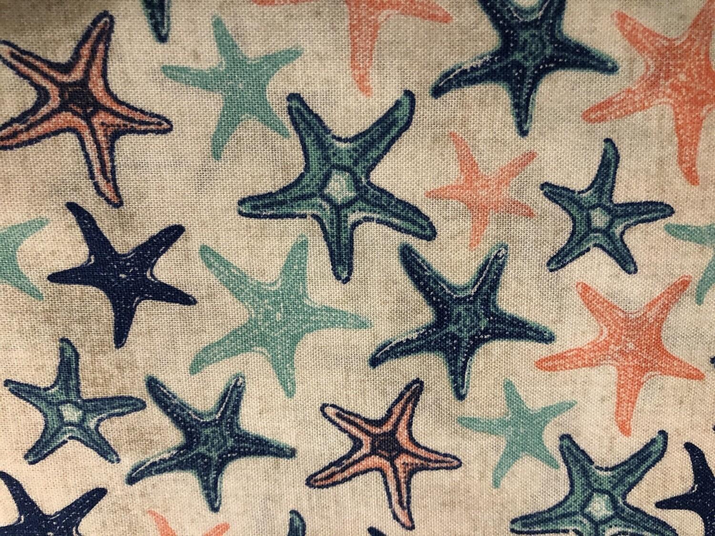 Starfish Print Handmade Face Mask