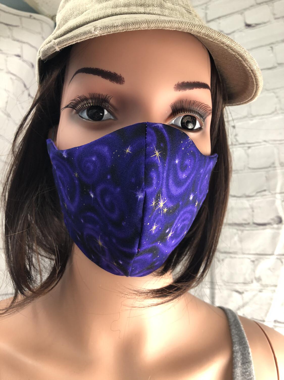 Purple Starlight Handmade Face Mask