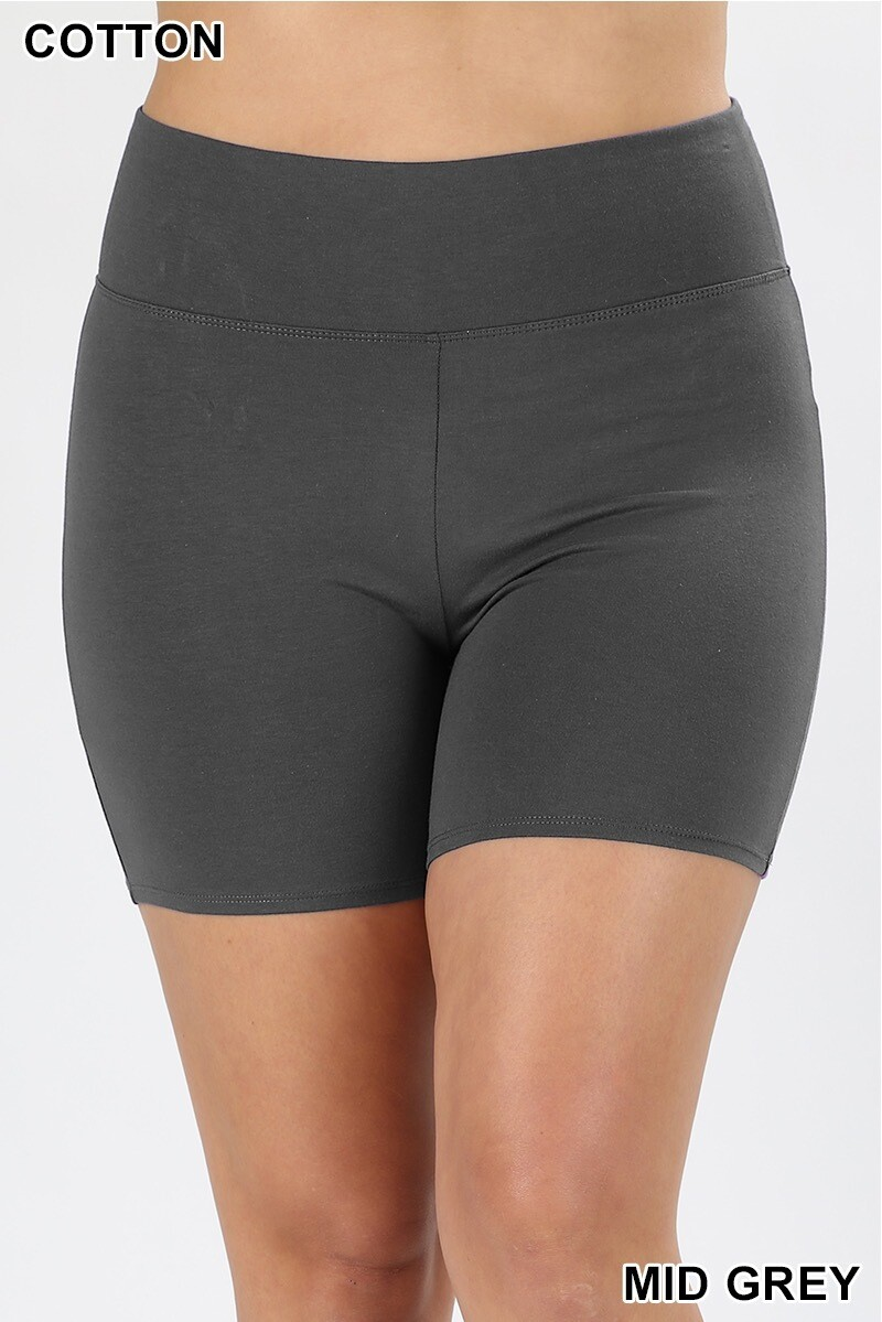 Shorts Premium Cotton PLUS Size Gray