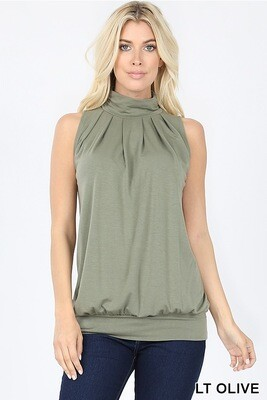 Top High Neck Olive Green S M L