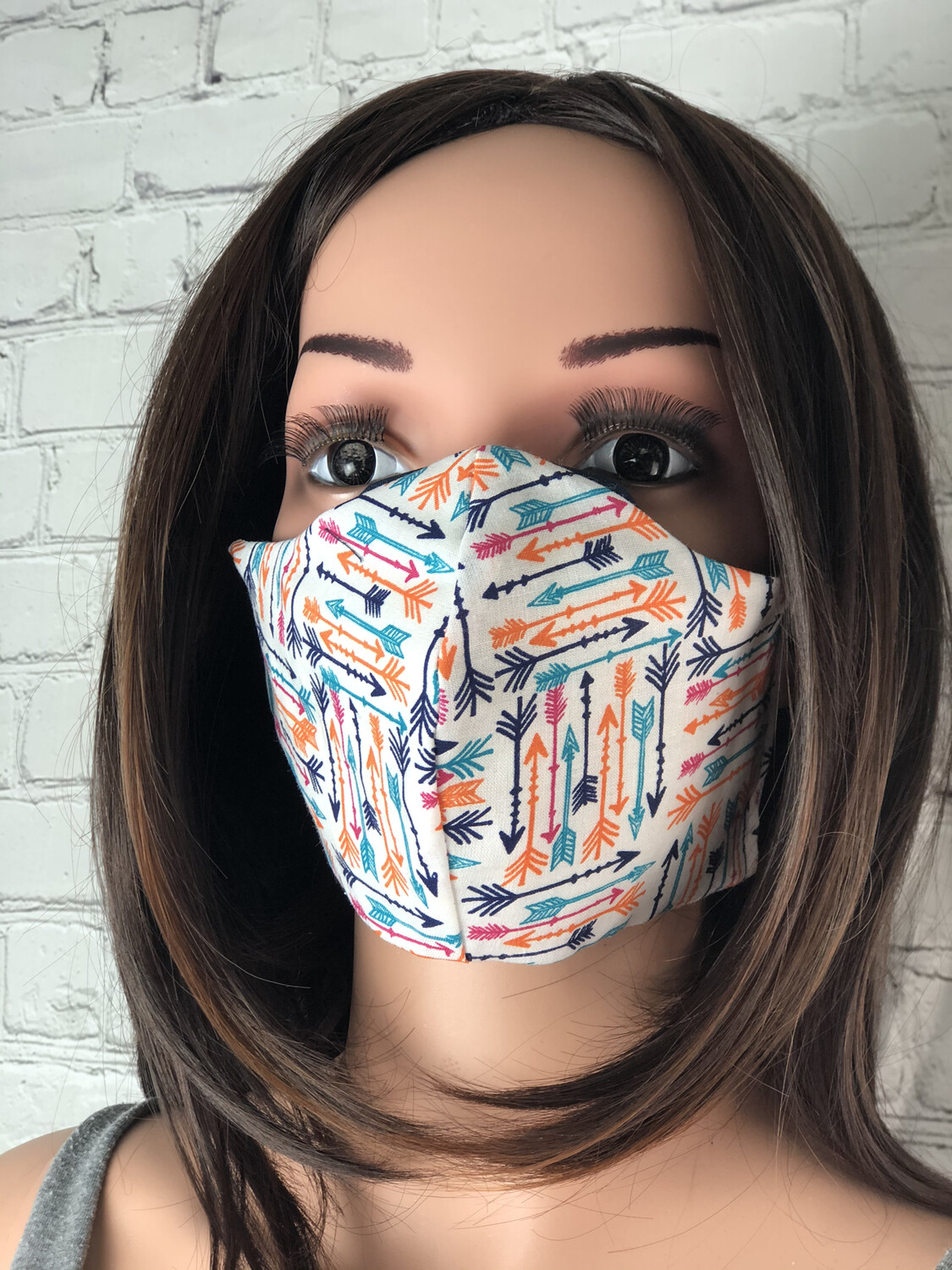 Arrows Print Handmade Face Mask