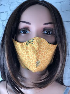 Bee Print Handmade Face Mask