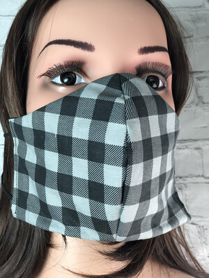 Plaid Print Handmade Face Mask