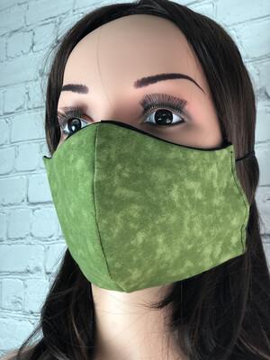 Green Print Handmade Face Mask
