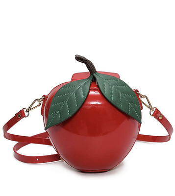 Fashion Apple Shape PU Leather Shoulder Bag Purse