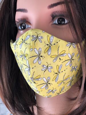 Dragonfly Fabric Handmade Face Mask