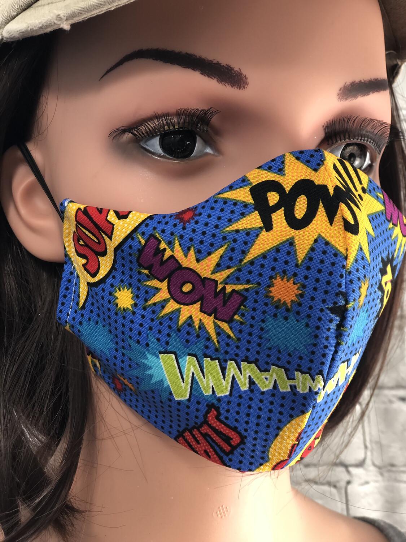 Hero Superhero Print Handmade Face Mask