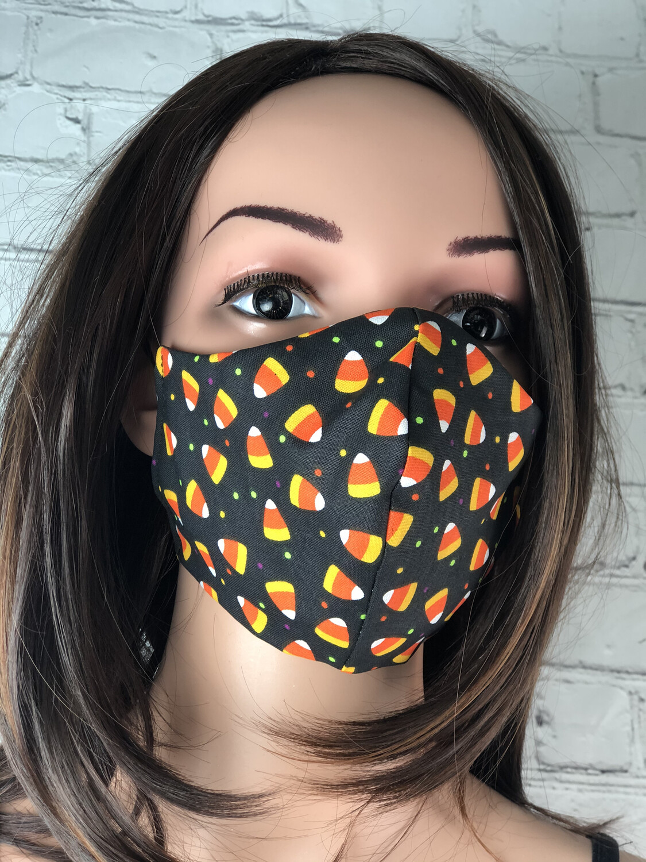 Halloween Candy Corn Handmade Face Mask
