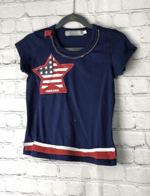S Threads Kids Upcycle Boys Patriotic Star Tee size 4T