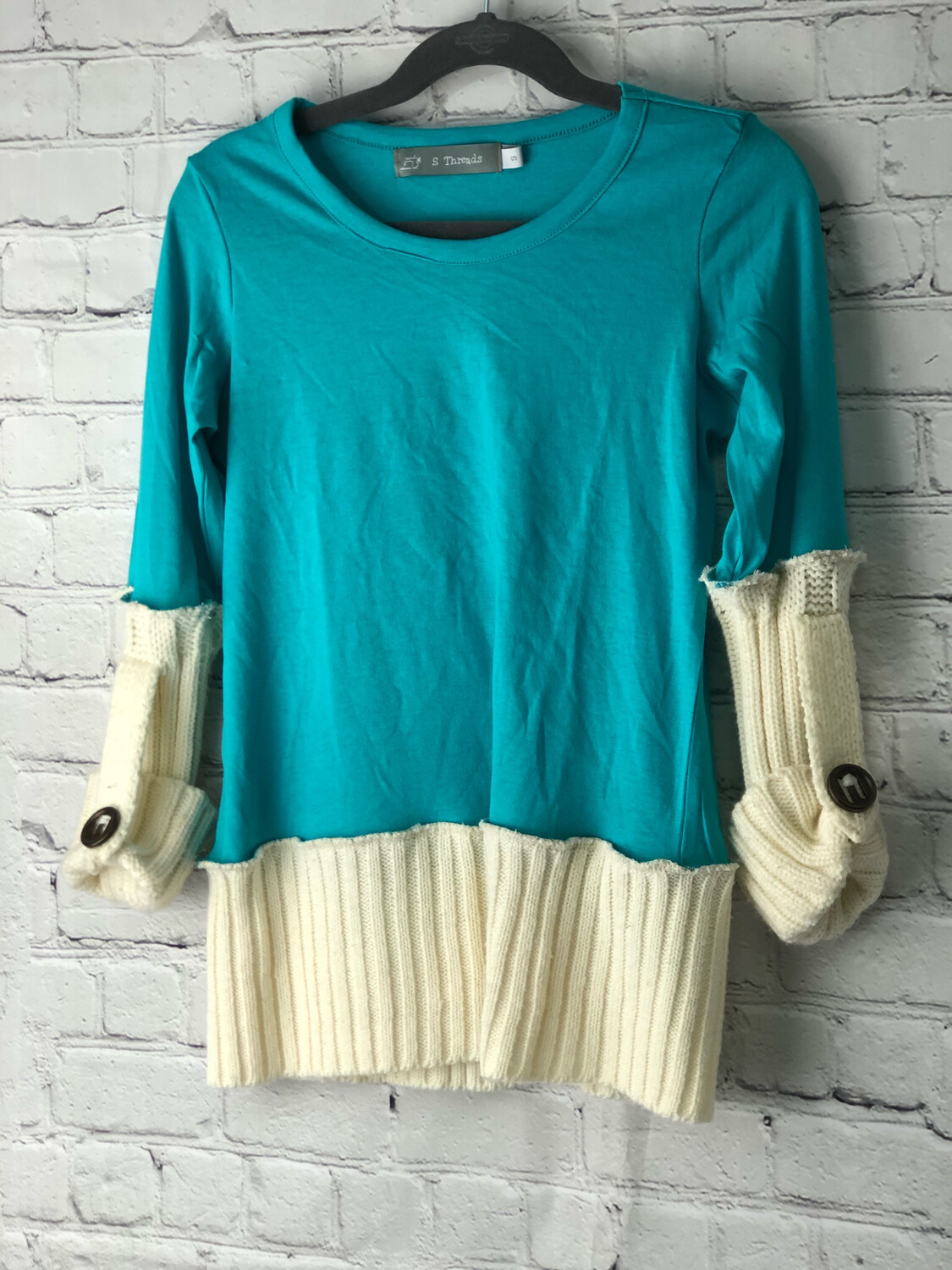 S Threads Kids Upcycled Long Sleeve Shirt Sweater Size Child Small