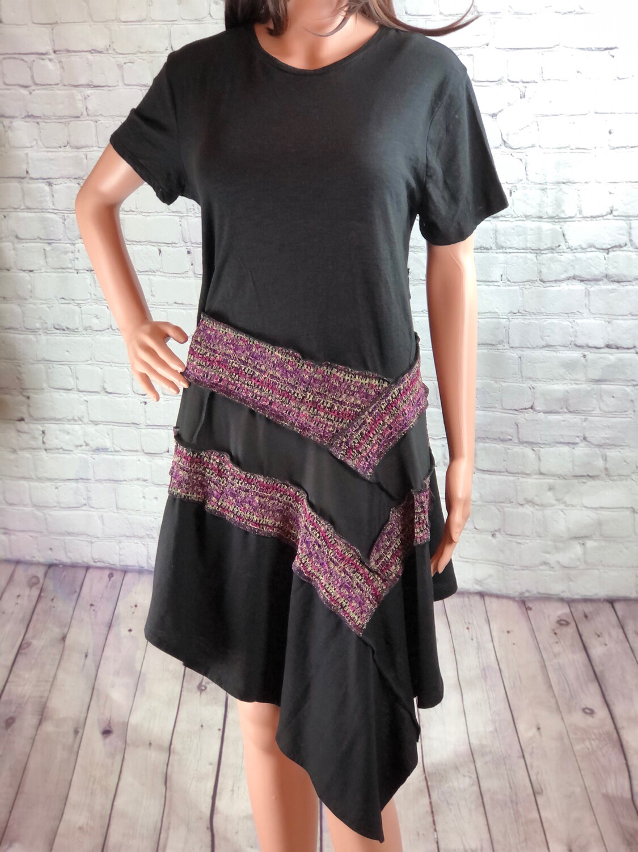 Asymmetrical Tie Waist Tshirt Dress Size Large/ XL