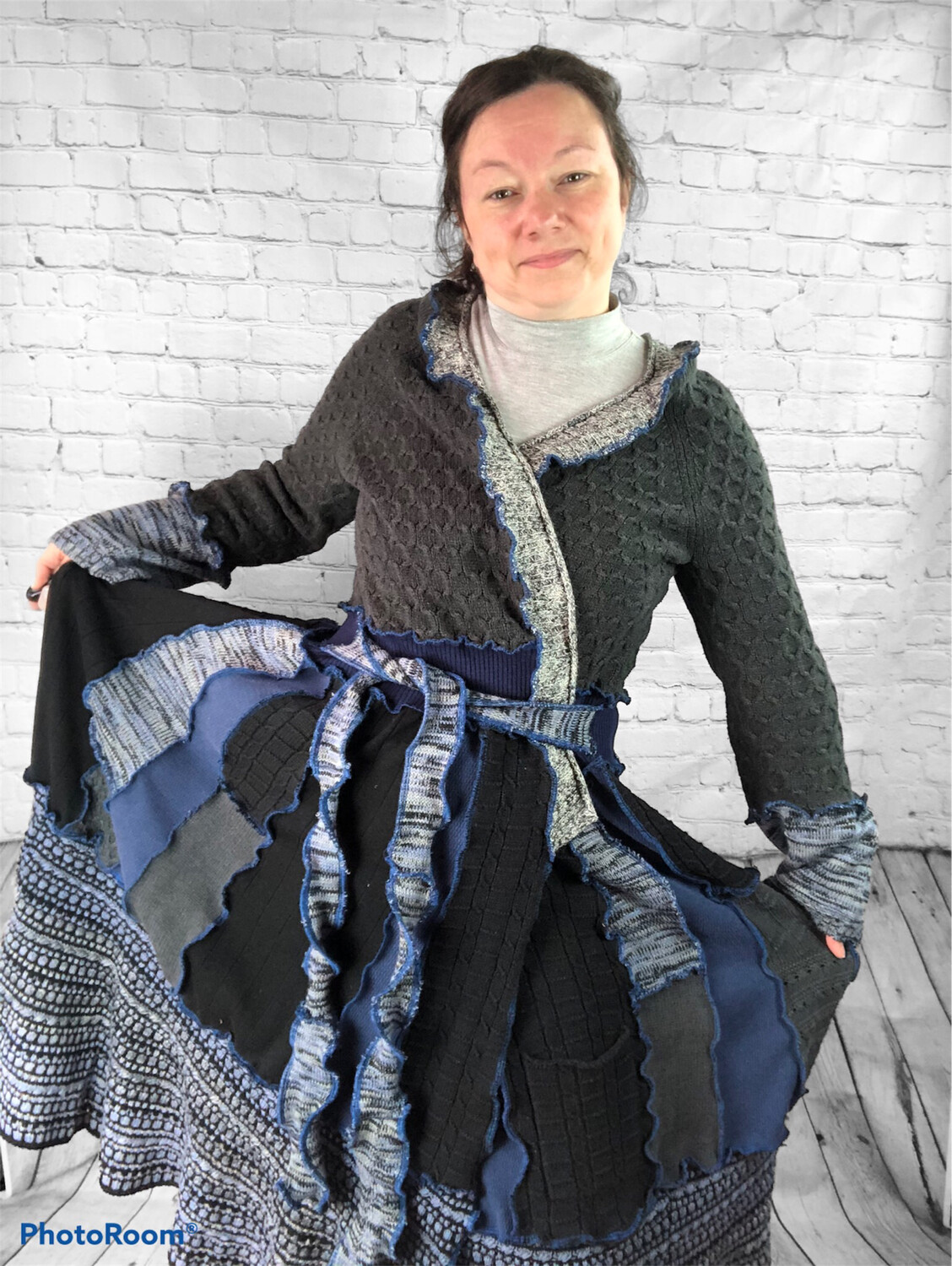 S Threads Recycled Sweater Coat Boho Hippie Katwise Inspired OOAK OS