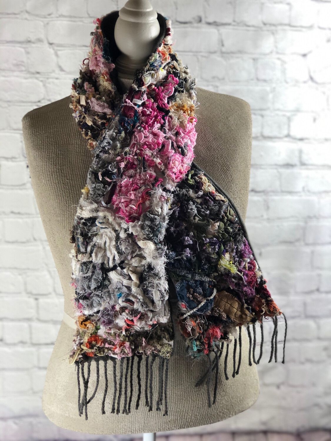 S Threads Scrappy Cashmere Feel Fringe Scarf