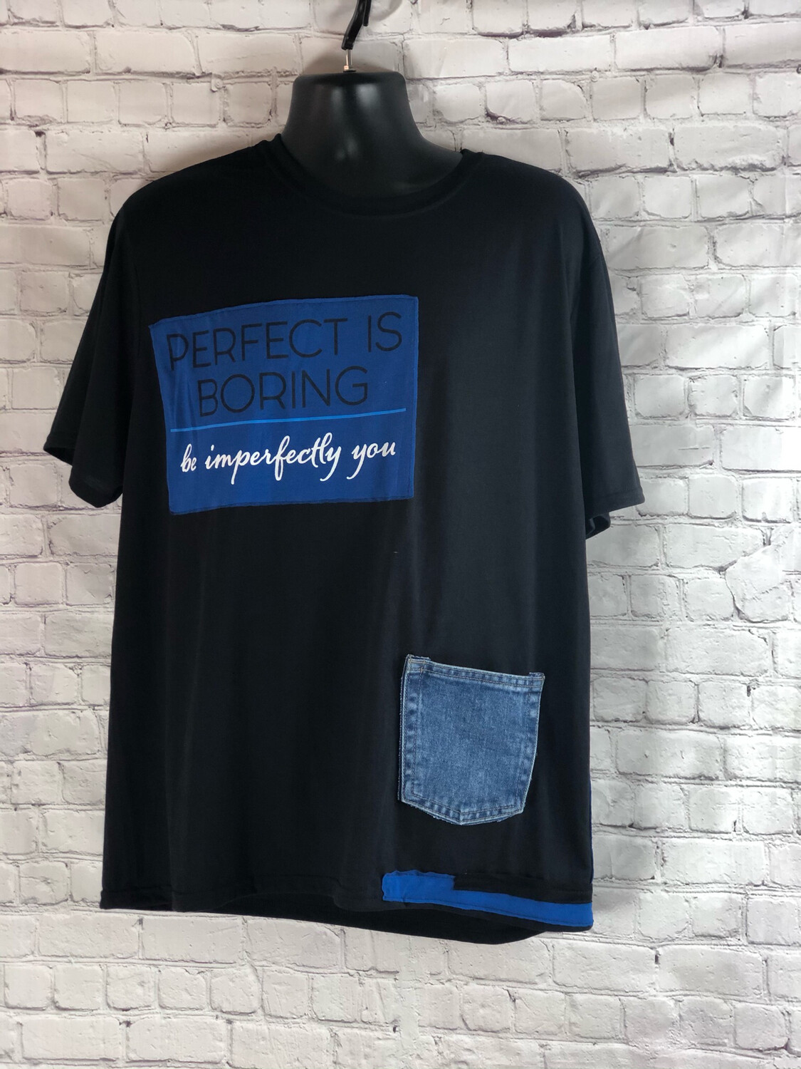 S Threads Upcycled Perfect Is Boring Tee Mens Size XL