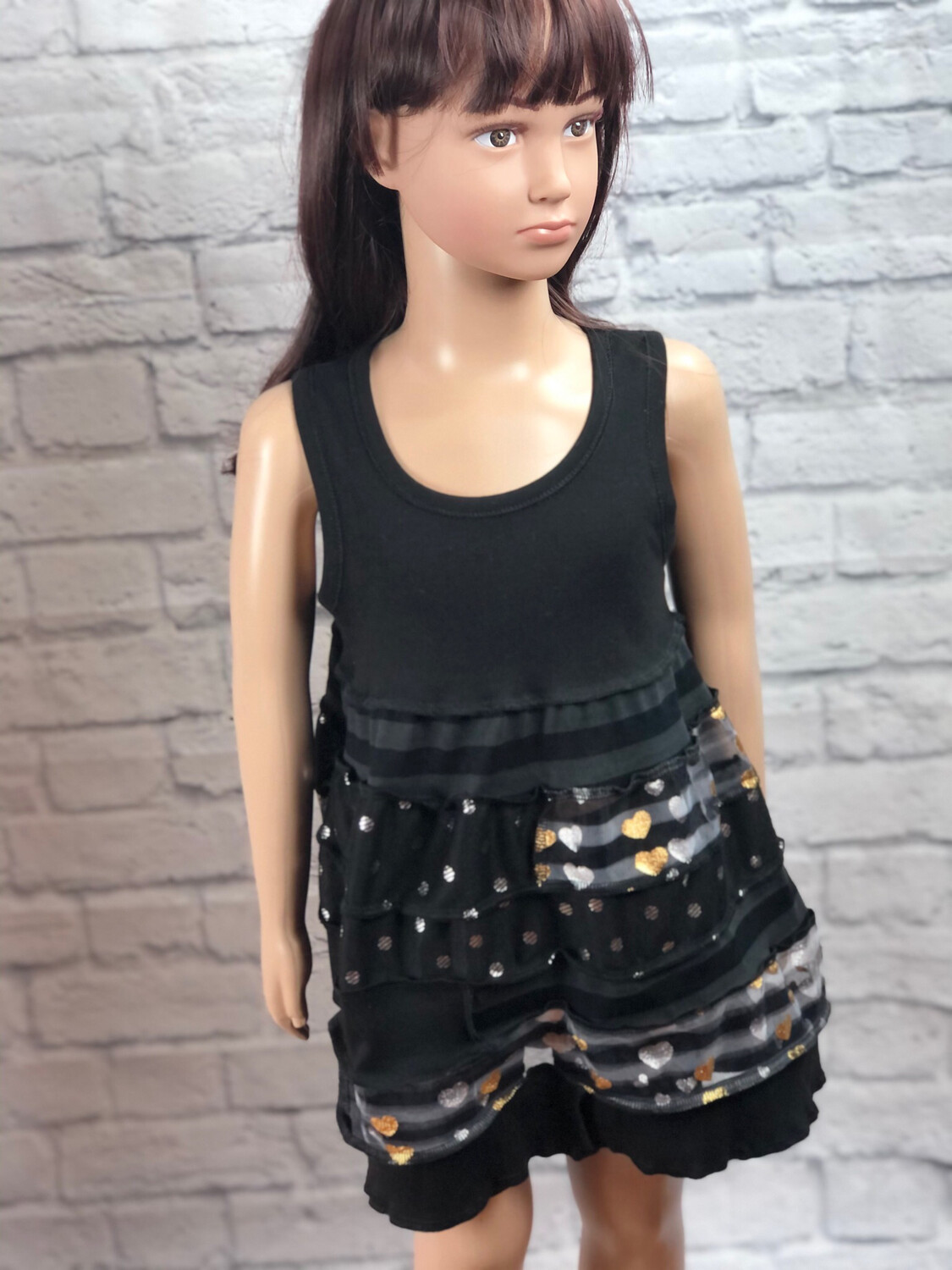 S Threads Kids Upcycled Sparkle Dress Size Child Small