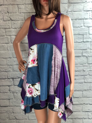 S Threads Upcycled Flare Top W Pocket Size M