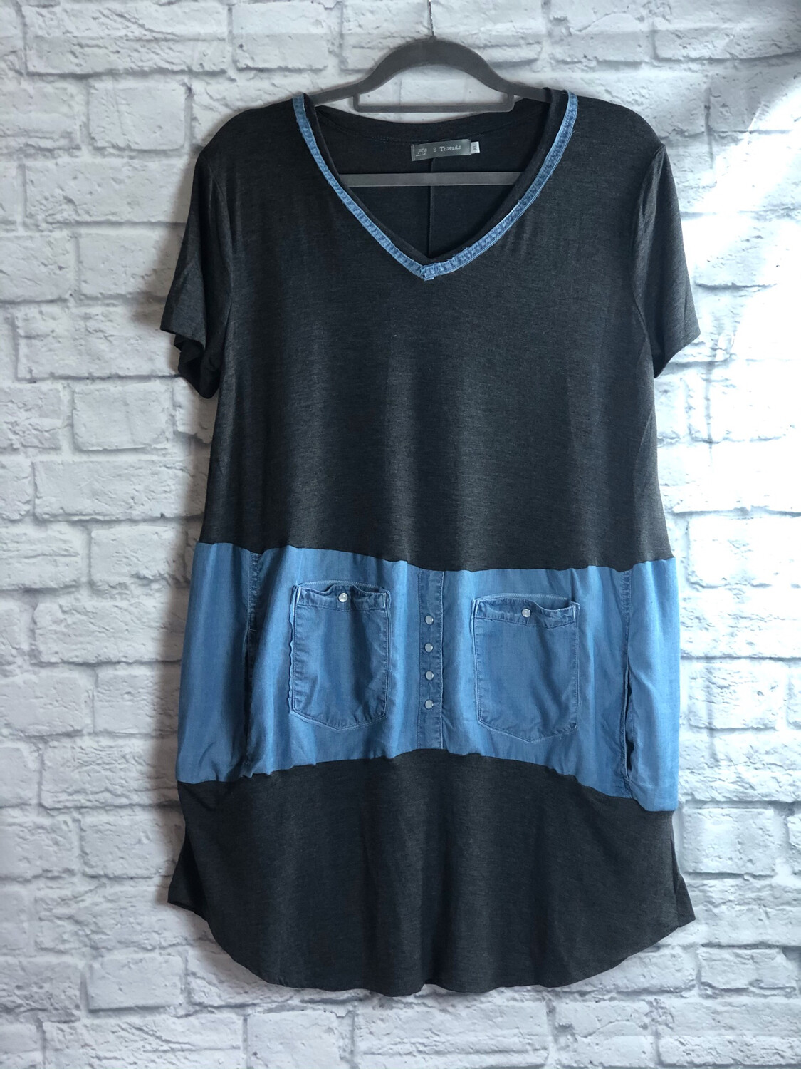 S Threads Upcycled Extra Soft Slouchy Tee Size XL