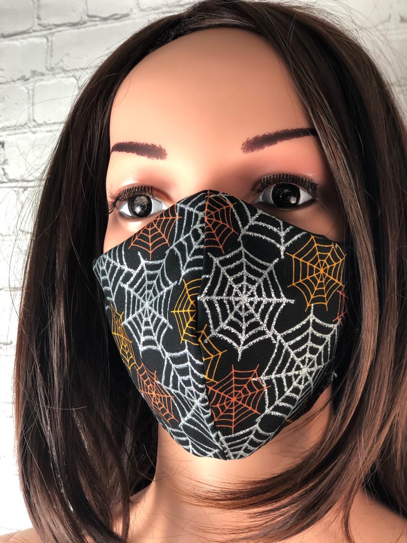 Handmade Face Mask Women's Size Spider Webs