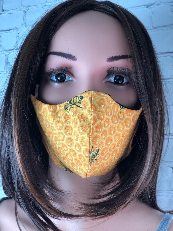 Handmade Face Mask Women's Size Bees