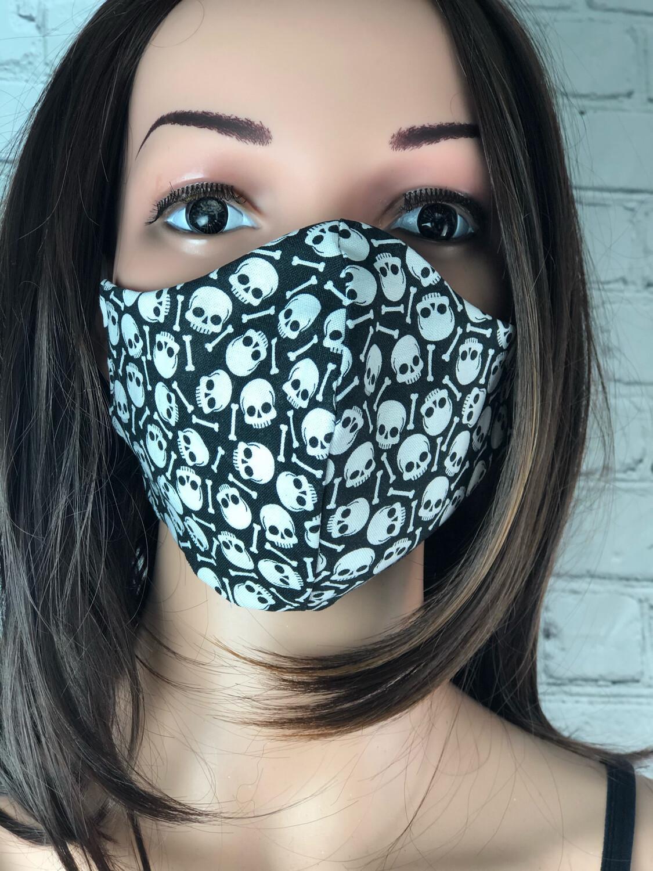 Handmade Face Mask Men's Size Skulls