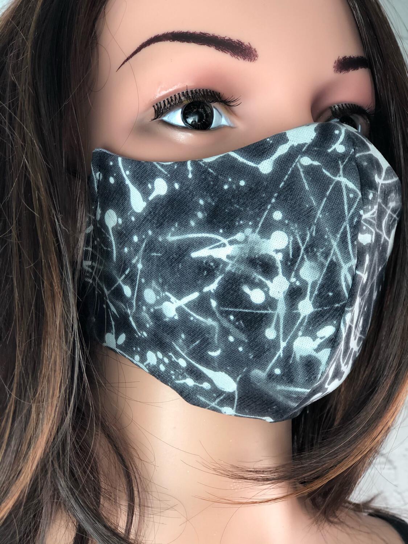 Handmade Face Mask Men's Size Bleach