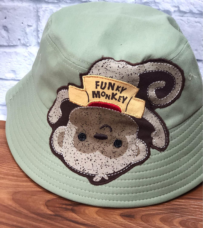 Bucket Hat One Size Green Funky Monkey