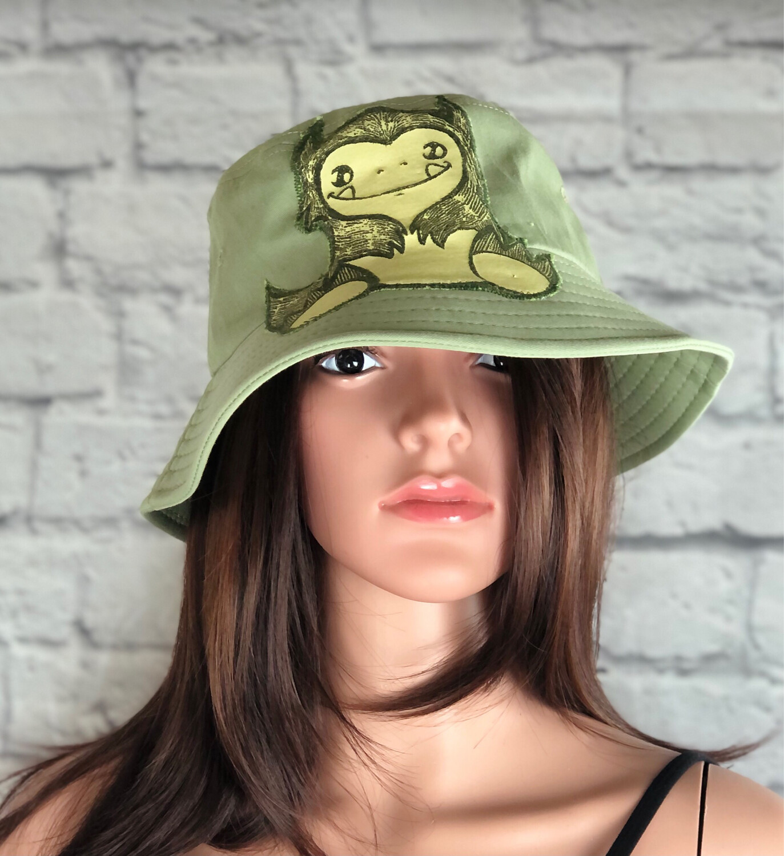 Bucket Hat One Size Green Little Monster