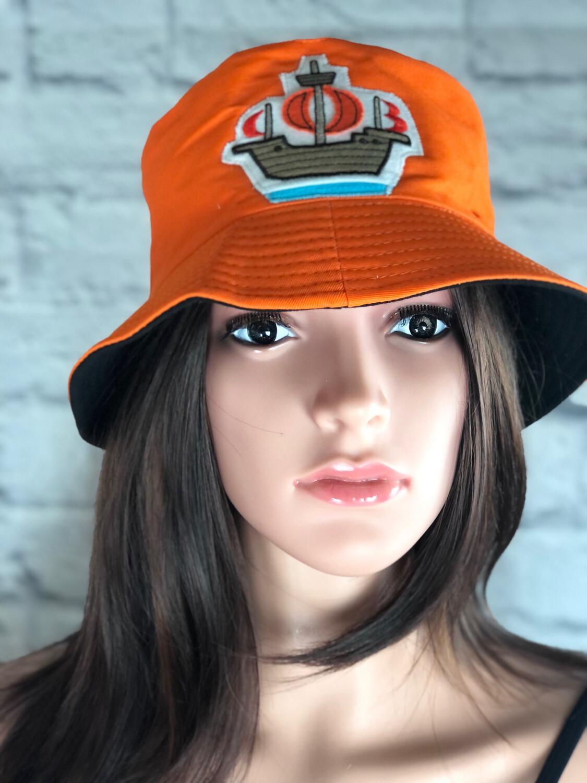 Bucket Hat One Size Orange Nautical Ship