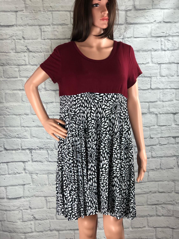S Threads Floral Print Shirt Dress Size Large/ XL