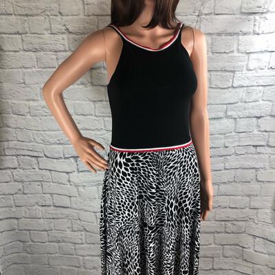 S Threads Upcycled Dress Halter Teardrop Print Size XS/S