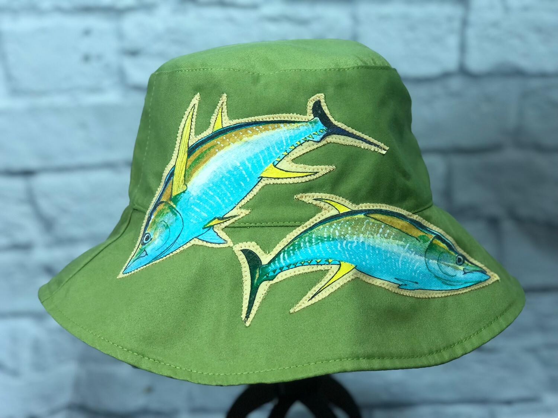 Bucket Hat Upcycled Yellow Fin Tuna OS