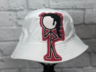 Bucket Hat Upcycled Stick Girl OS