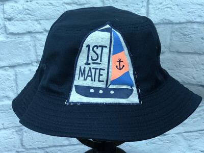 Bucket Hat Upcycled 1st Mate OS